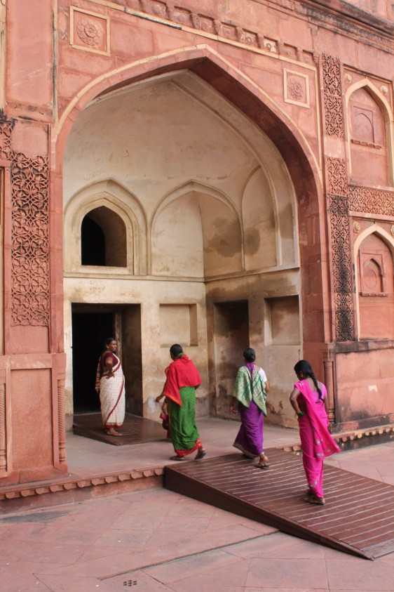 Women entering the Red Fort