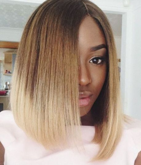 blunt lob haircut for black women