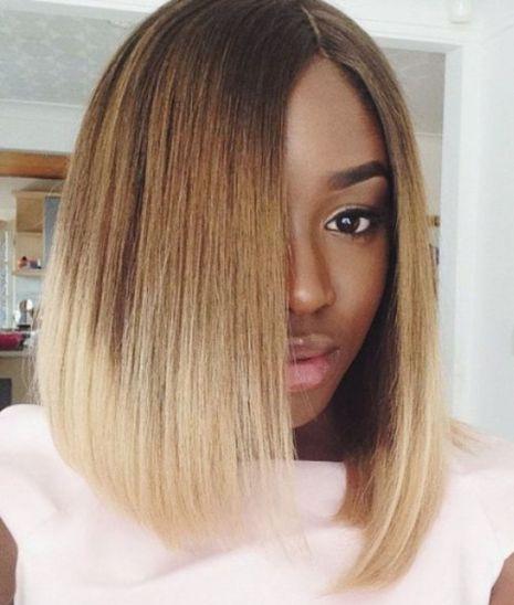 blunt lob haircut for black women