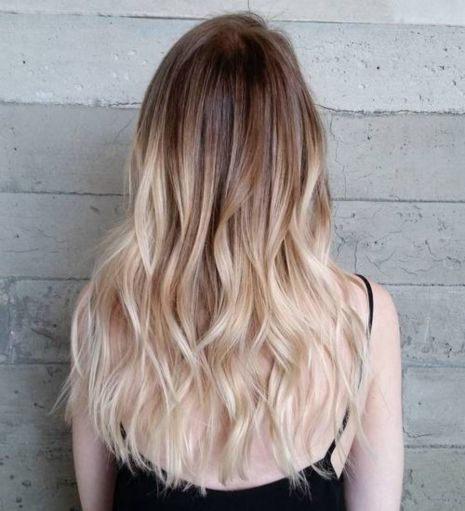 light brown to white blonde ombre
