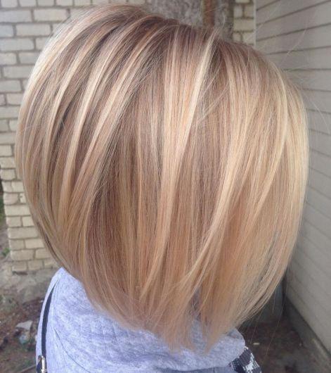 Straight Inverted Blonde Bob