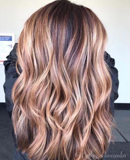 Light Caramel Balayage Hair