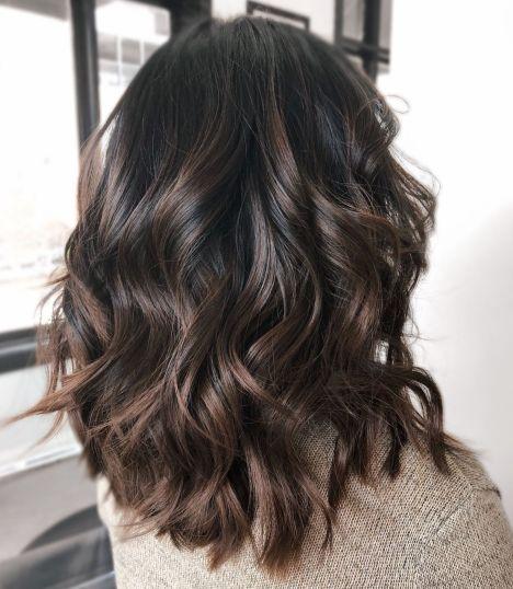Wavy Dark Chocolate Balayage Hair