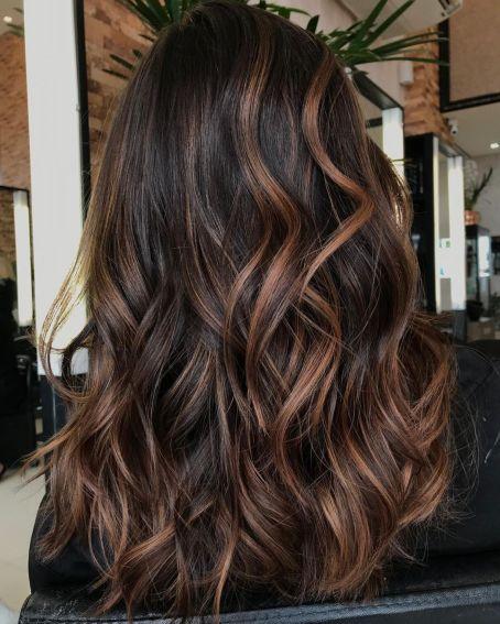 Long Chocolate And Caramel Hair