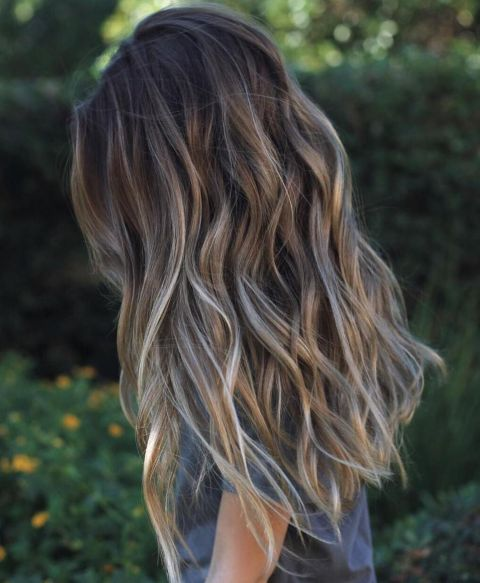 Long Brown Hair With Gray Highlights