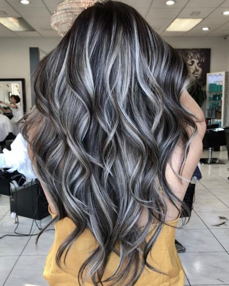 Gray Brown Hair With Silver Highlights