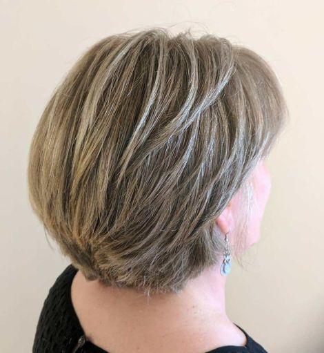 Short Layered Dark Blonde Cut For Thick Hair