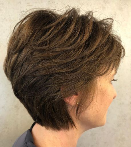 Long Feathered Pixie With Tapered Nape