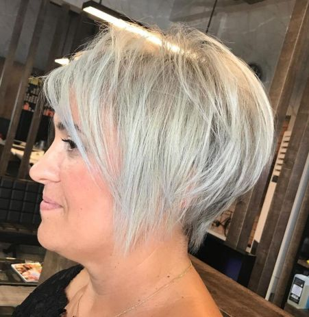 Short Gray Hairstyle For Women Over 40