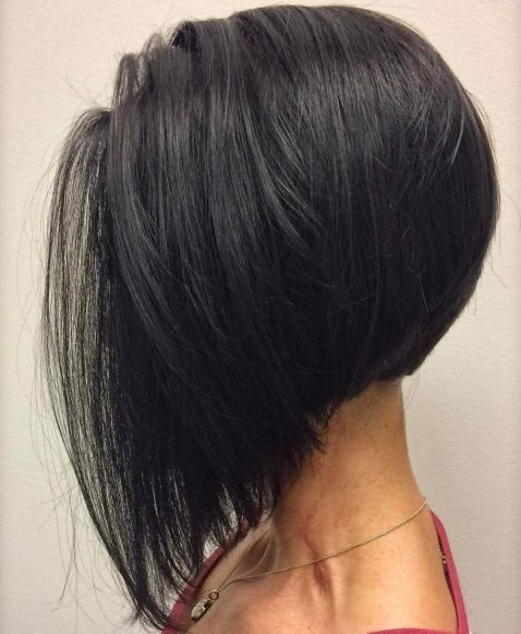 Long Inverted Bob With Elongated Front