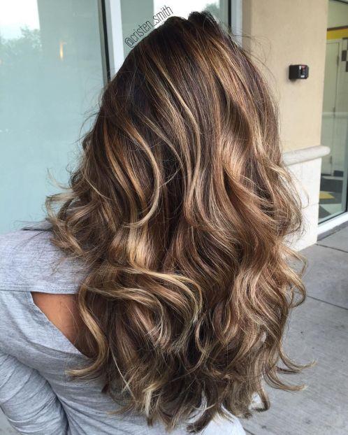 Smeđa kosa sa svetlijim pramenovima