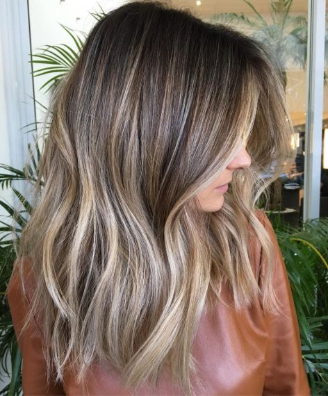 Long Brown Hair With Ash Blonde Highlights