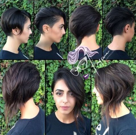 asymmetrical long pixie with side undercut