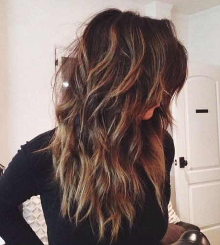 Long Shag Hair Style For Thick Hair