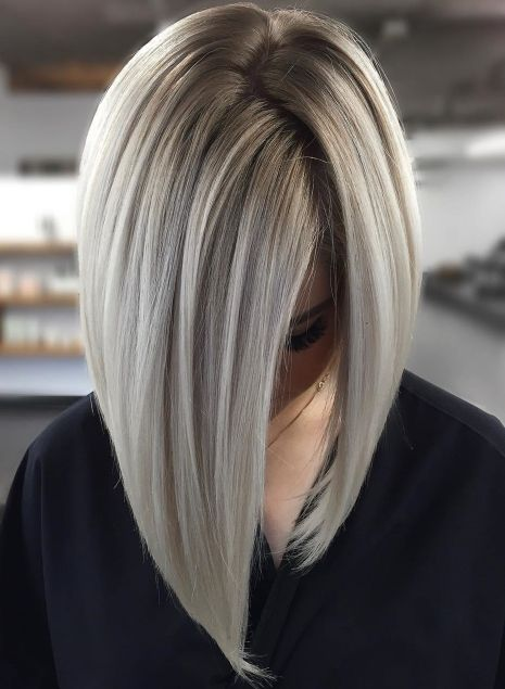 Sleek and Glossy Blonde Balayage Bob