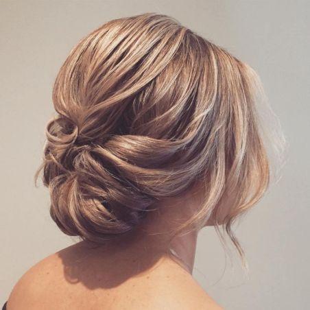 Loose Low Updo for Medium Hair
