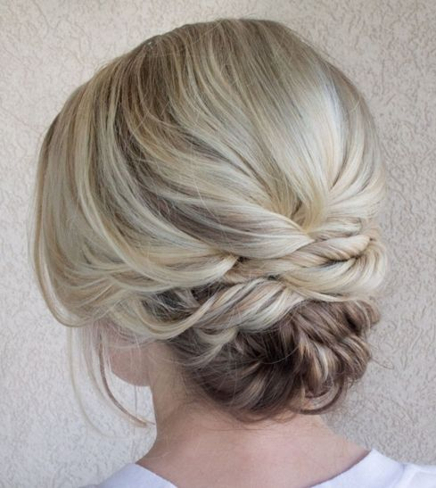 Updo for Blonde Balayage Hair