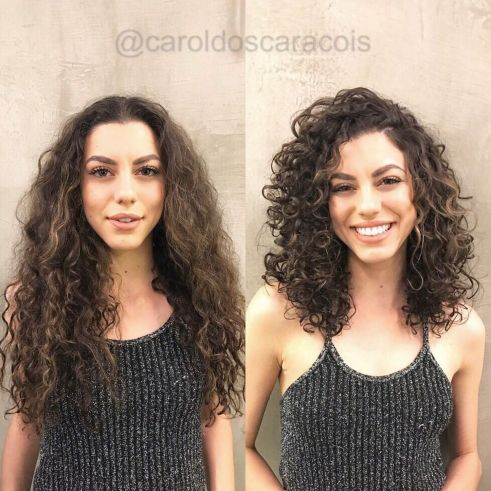 Medium Length Combover Hairstyle For Curly Hair