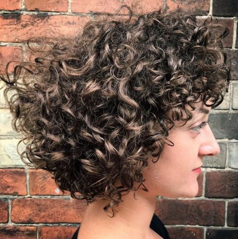 Medium Curly Layered Hairstyle