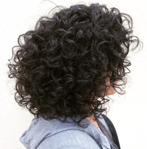 Voluminous Layered Hairstyle For Curly Hair