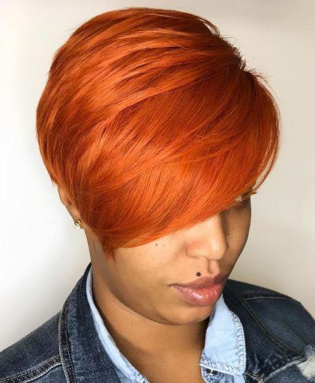 Bright Orange Red Pixie