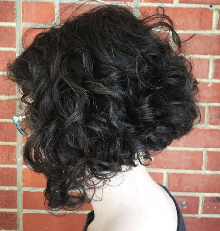 Angled Bob For Thick Curly Hair