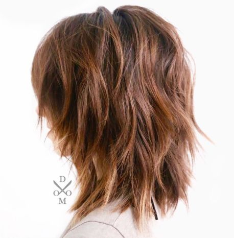 Medium Shaggy Layered Hairstyle For Thick Frizzy Hair
