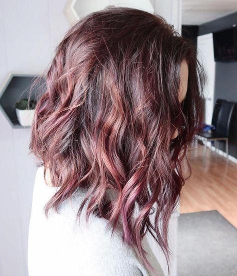 Angled Wavy Lob Hairstyle