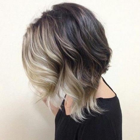 Long wavy bob hairstyle