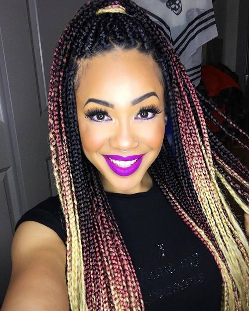 181 Best Box Braids Hair images in 2019  Hairstyle ideas