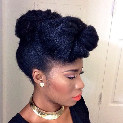 70 best black braided hairstyles that turn heads in 2017 updo hairstyle with a bun pmusecretfo Images