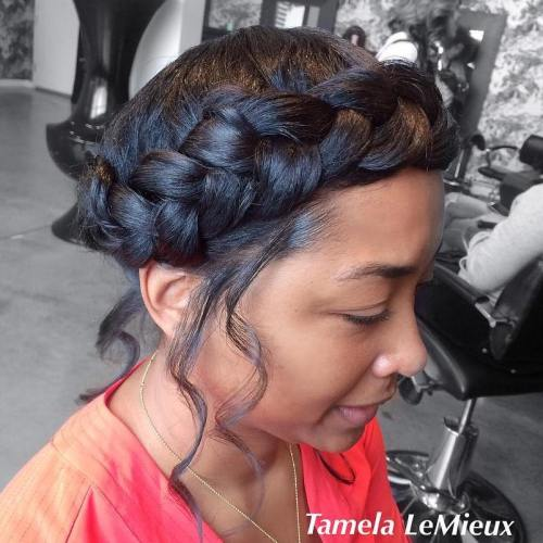 Halo Braid Updo