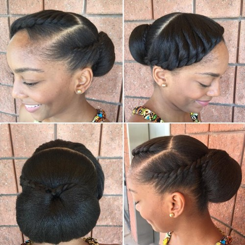 Black Low Bun Updo