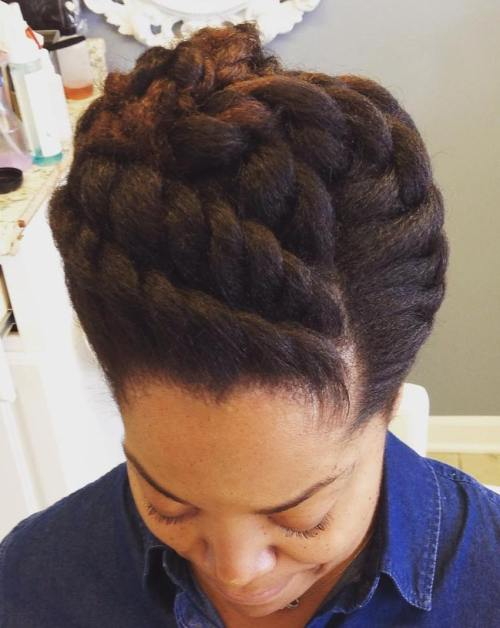 50 easy and showy protective hairstyles for natural hair twisted updo for natural hair solutioingenieria Image collections