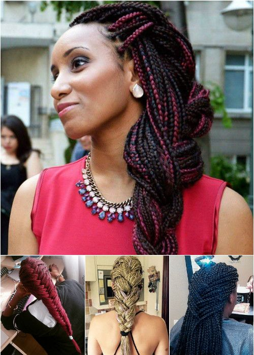 braided box braids hairstyles