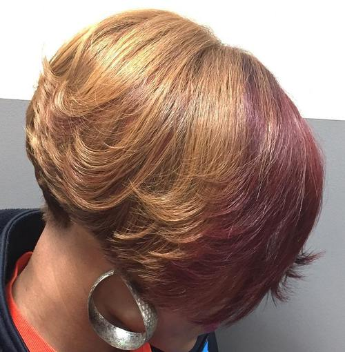 short layered bob for African American women