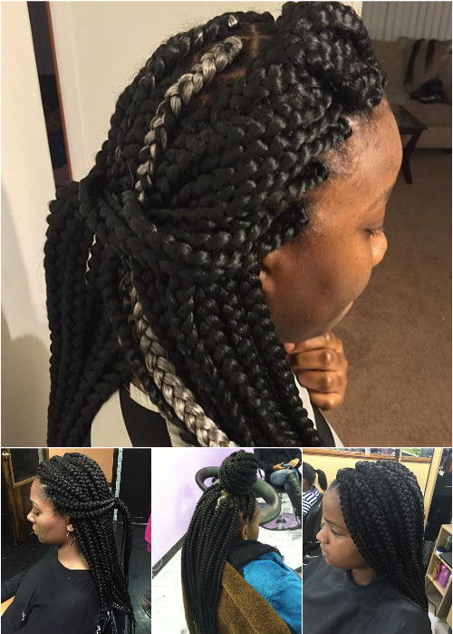 Awesome 50 Exquisite Box Braids Hairstyles To Do Yourself Short Hairstyles For Black Women Fulllsitofus