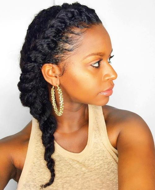 Side Twist for Natural Hair
