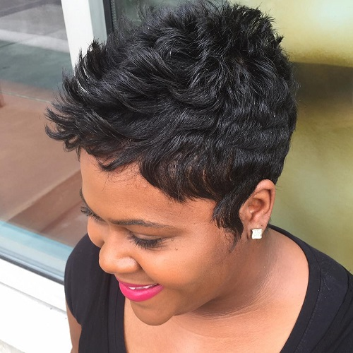 60 great short hairstyles for black women black choppy pixie urmus Choice Image