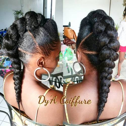 Protective Voluminous Mohawk For Natural Hair