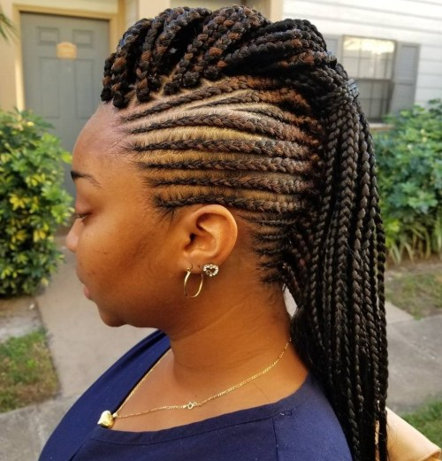 black braided hairstyles