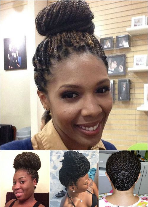 bun updos for box braids
