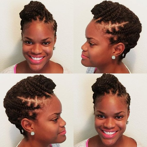 protective updo for twists