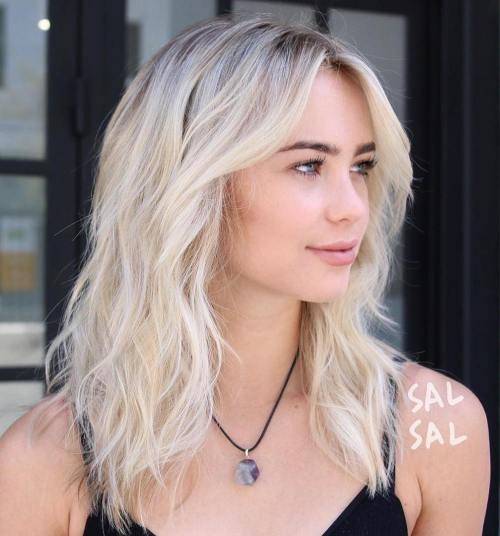 Wavy Blonde Shag Hairstyle