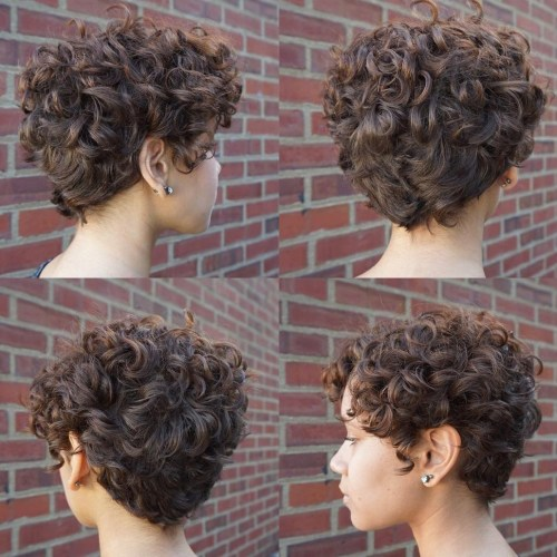 Short Curly Hair With Bangs And Layers 23