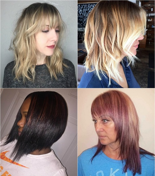 Peachy 90 Sensational Medium Length Haircuts For Thick Hair In 2017 Hairstyle Inspiration Daily Dogsangcom