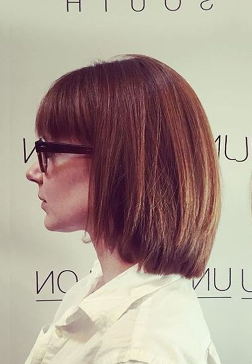 70 brightest medium length layered haircuts and hairstyles layered bob with bangs urmus Gallery