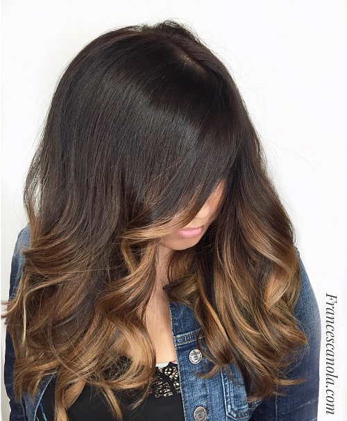 Light Brown Face Framing Balayage Hairstyle