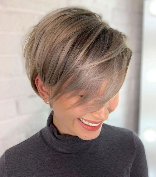 Long Layered Pixie Cut For Thin Hair