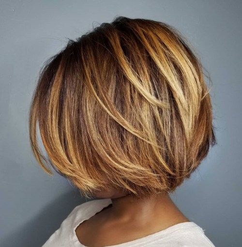 Short Sliced Bob For Black Women